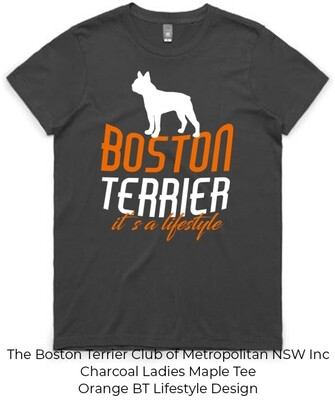 Ladies Maple T-Shirt - Boston Terrier Lifestyle Designs