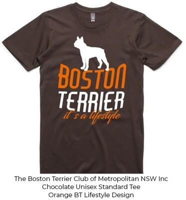 Unisex Standard T-Shirt - Boston Terrier Lifestyle Designs