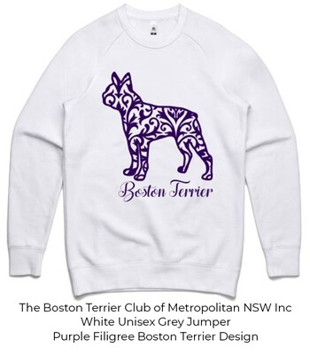 Unisex Standard Crew Jumper - Filigree Boston Terrier Designs