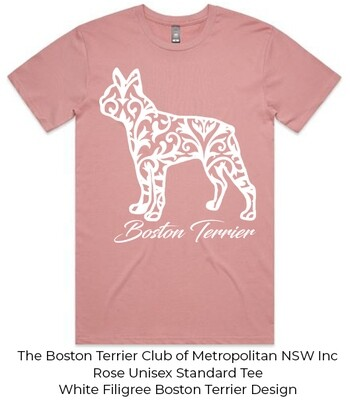 Unisex Standard T-Shirt - Filigree Boston Terrier Designs