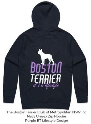Unisex Standard Zip Hoodie - Boston Terrier Lifestyle Designs