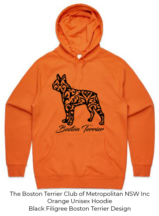 Unisex Standard Hoodie - Filigree Boston Terrier Designs