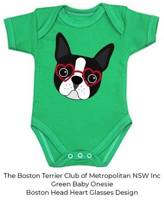 Baby Onesie - Boston Terrier Head Design