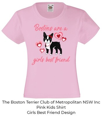 Kids/Toddler/Baby T-Shirt - Bostons are a girls best friend