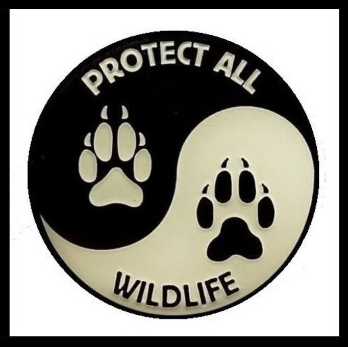 'PROTECT ALL  WILDLIFE' ENAMEL PIN BADGES