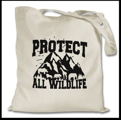 PROTECT ALL WILDLIFE TOTE BAG