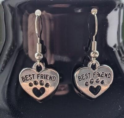 BEST FRIEND PAW EARRINGS