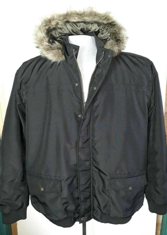 3xl-es szőrme galléros téli férfi kabát