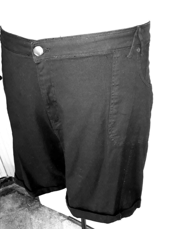 6xl-es 58-as sztreccs farmer térd nadrág fekete