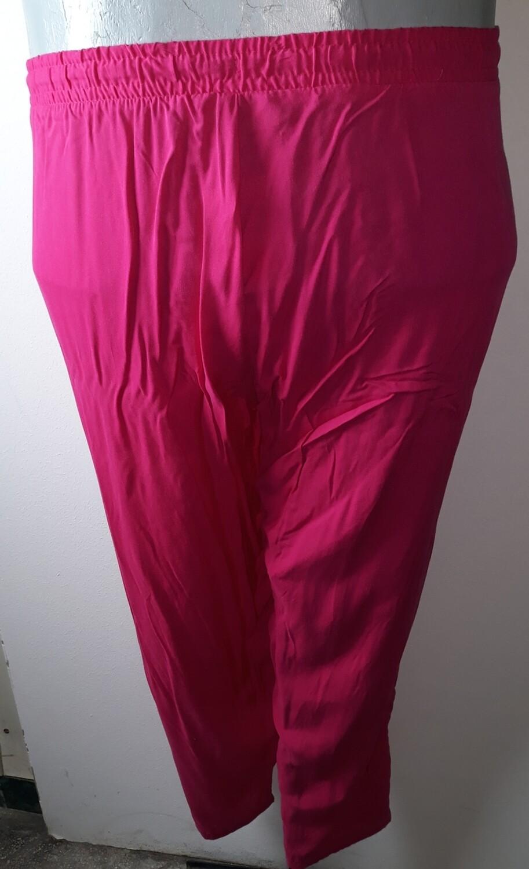 5xl-es 56-os lenge hosszú nyári nadrág pink