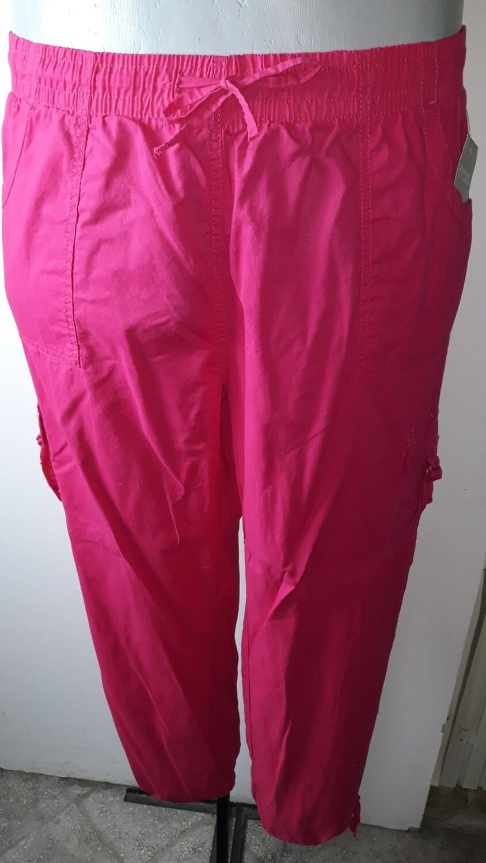 5xl-es 56-os vékony pamutvászon nadrág pink