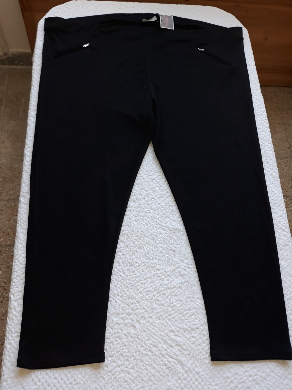 58/60-as 6xl-es cipzáras zsebű leggings
