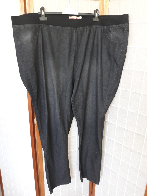 6xl-es 58-as gumis derekú farmernadrág fekete