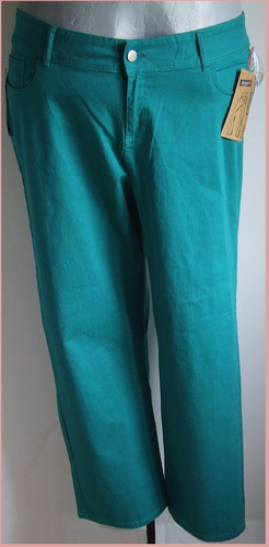 4XL 52/54 divatos nagyméretű színes farmernadrág