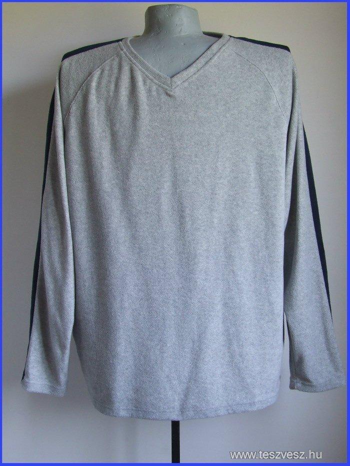 4xl 68/70 nagyméretű polár jellegű férfi pulóver