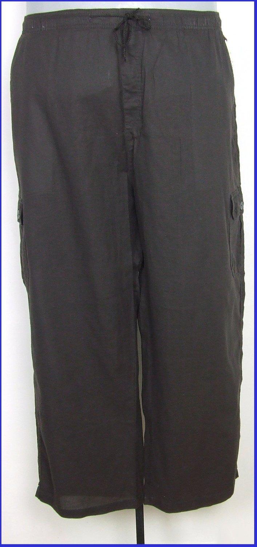 4XL-es 66/68-as nagyméretű férfi pamutvászon nadrág