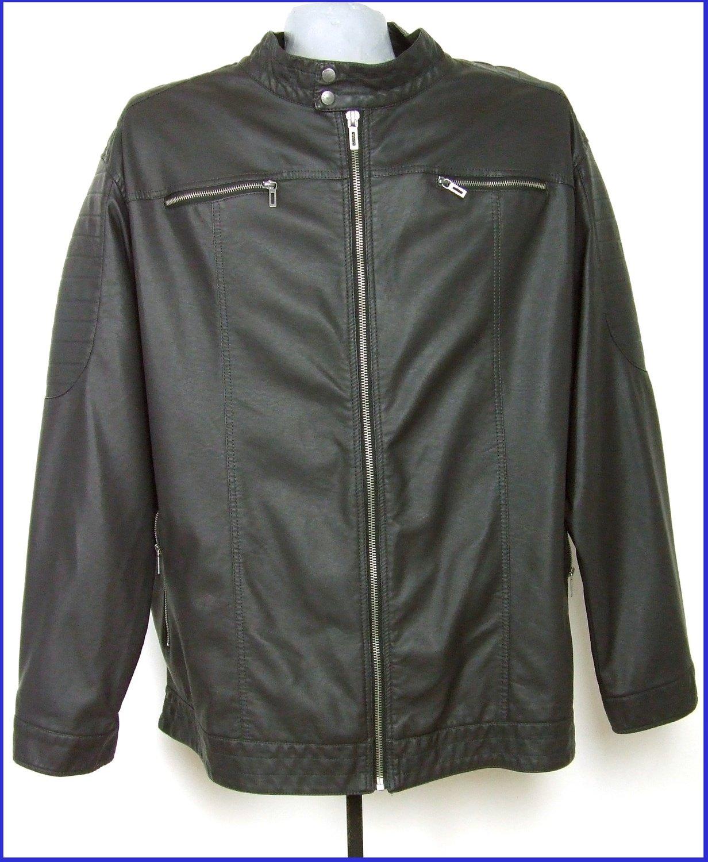 4XL-es 68/70-es nagyméretű műbőr kabát férfiaknak