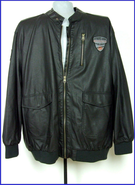 5XL-es 72/74-es nagyméretű divatos műbőr kabát férfiaknak
