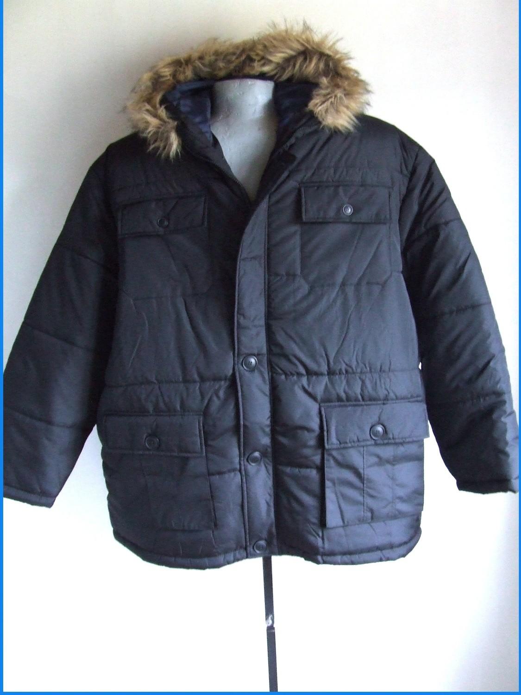 4XL 68/70 divatos, nagyméretű meleg  kapucnis téli kabát férfiaknak