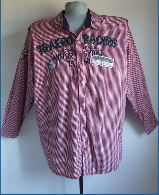 5xl 51/52 nagyméretű divatos kockás férfi ing