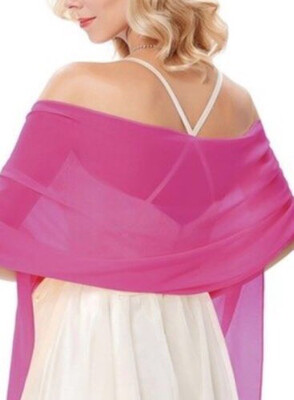 Stola / Schultertuch pink dunkel
