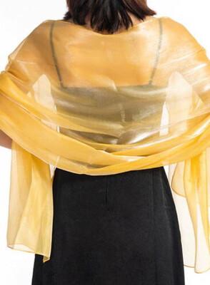 Stola / Schultertuch gelbgold glanz