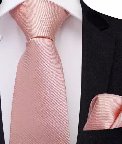 Krawatte & Einstecktuch altrosa