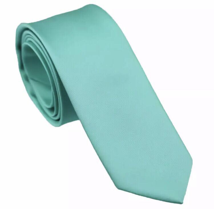 Krawatte schmal türkis