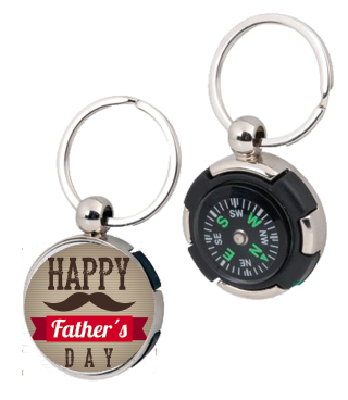 Personalised Keyring Compass