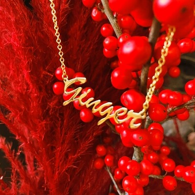 'Ginger' Name Necklace