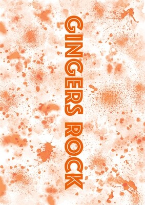 'Gingers Rock' Spatter Wrapping Paper: Free download