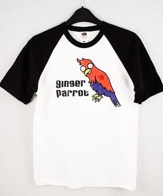Ginger Parrot Baseball T-Shirt