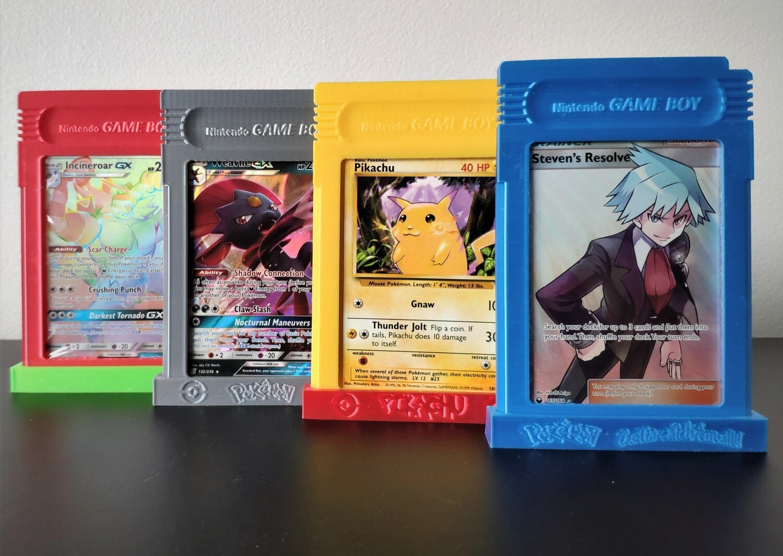 Gameboy Catridge Trading Card Display