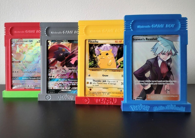 Gameboy Catridge Trading Card Display