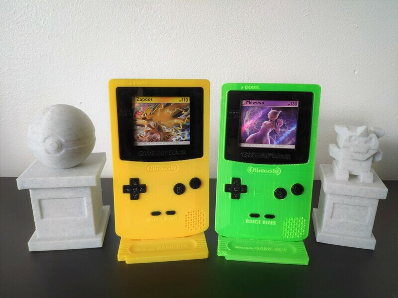 Gameboy Color Trading Card Display