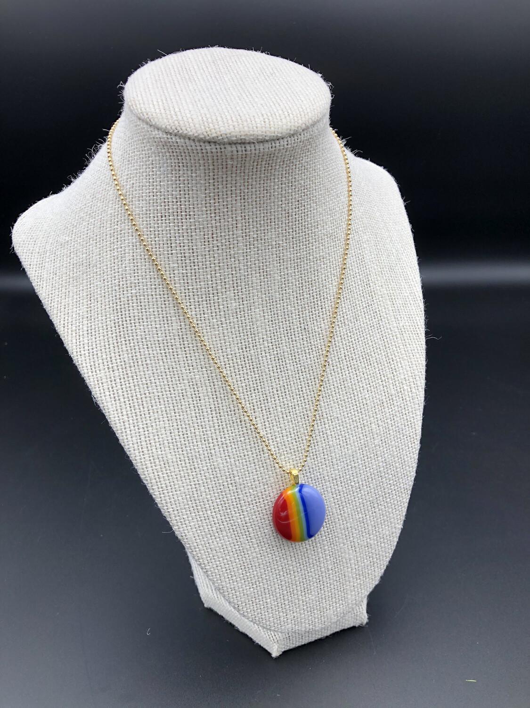 """""""Kay"""" Polished Rainbow Necklace"""