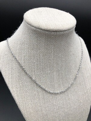 18-inch Stainless Steel Link Cable Chain Necklace with Lobster Clasp