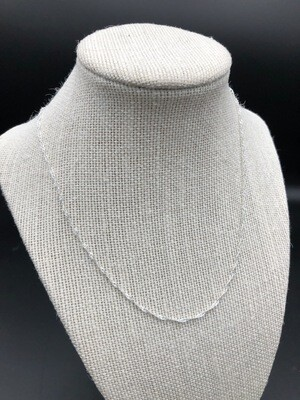 """18- or 20-inch """"Water Wave"""" 925 Sterling Silver Plated Cable Chain Necklace with Lobster Clasp"""
