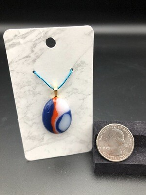 Polished Pendant with Gold Color Bail