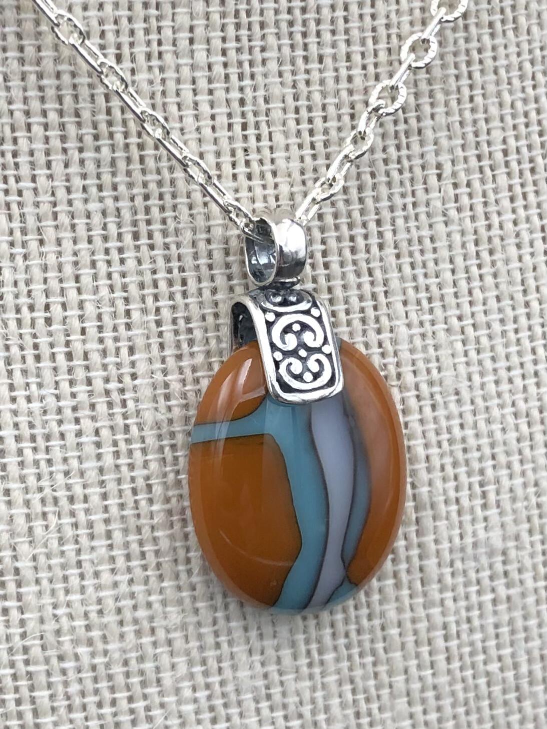 """Helen"" Kilnformed Glass Necklace"