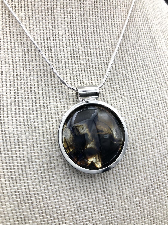 """""""Roxy"""" Kilnformed Glass Necklace"""