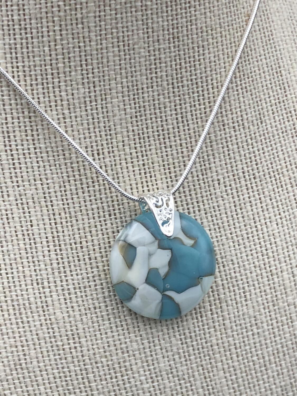"""Dee"" Kilnformed Glass Necklace"