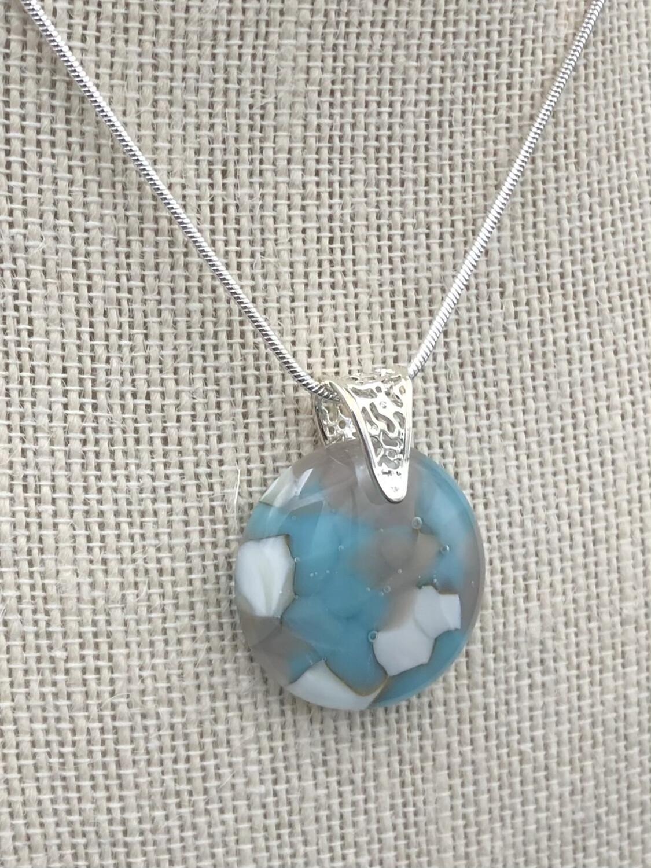 """""""Deirdre"""" Kilnformed Glass Necklace"""