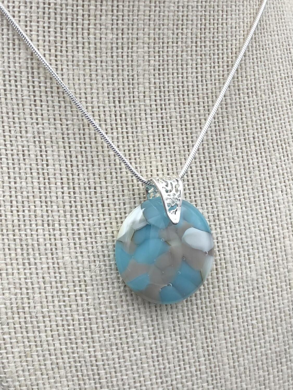 """""""Debra"""" Kilnformed Glass Necklace"""