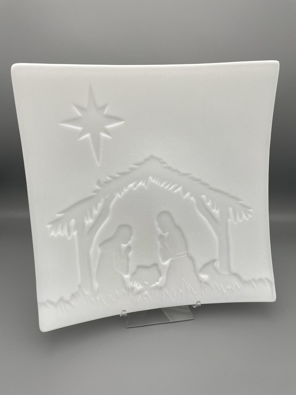 Nativity Scene Fused Glass Platter