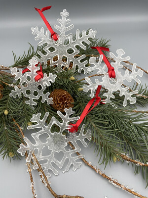 Icy Snowflake Ornaments or Suncatchers