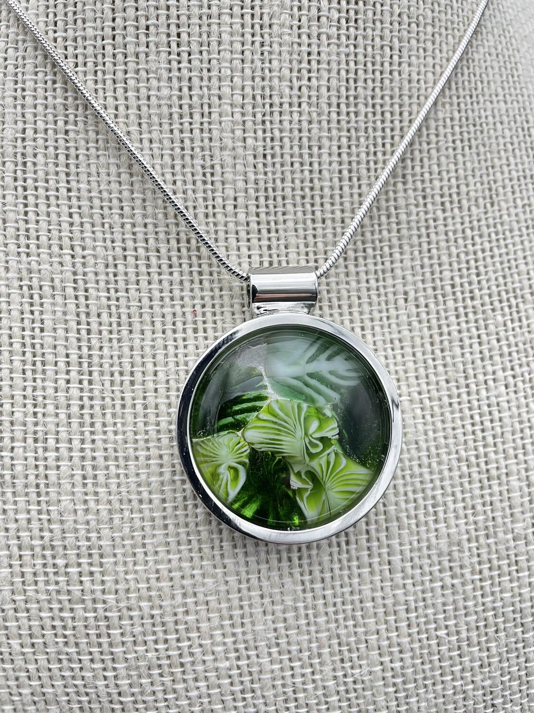 """""""Petra"""" Kilnformed Glass Necklace"""