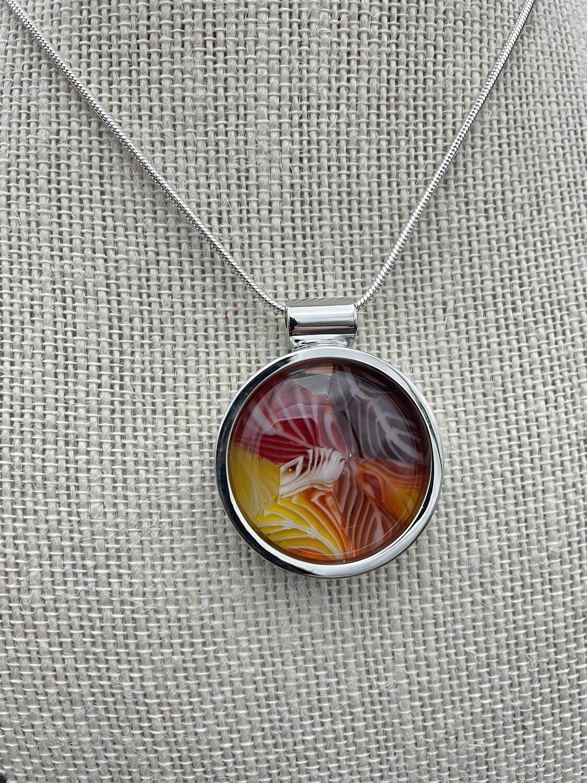 """""""Dawn"""" Kilnformed Glass Necklace"""