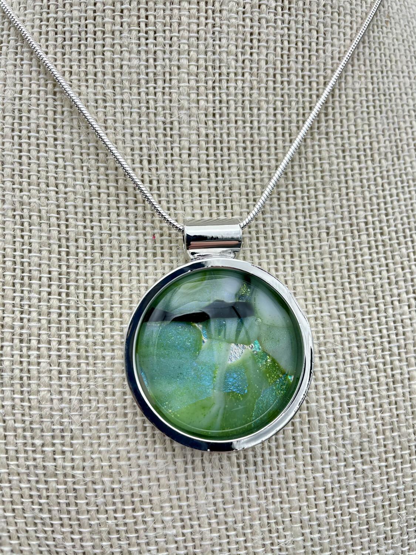 """""""Susan"""" Kilnformed Glass Necklace"""