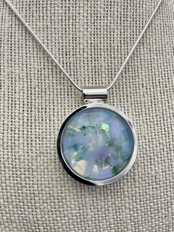 """""""Emily"""" Kilnformed Glass Necklace"""